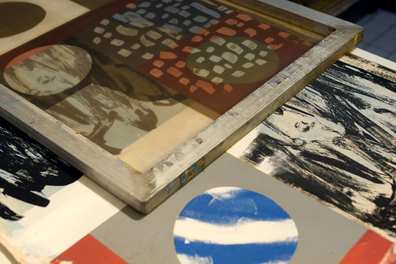 Screen printing with TCDC x The Archivist