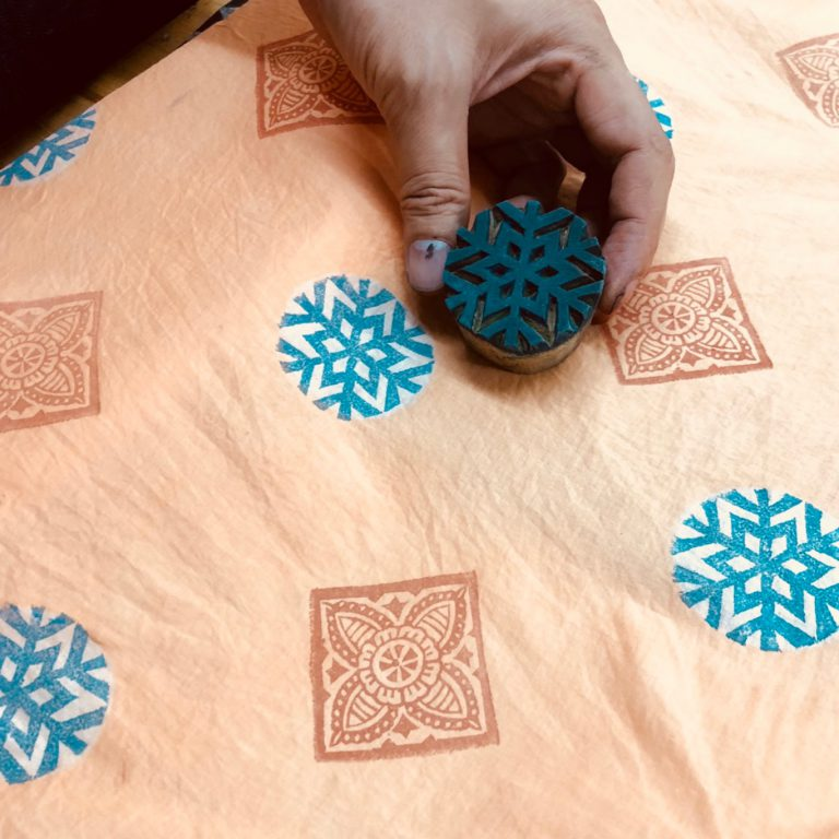 Woodblock Printing with Natural Colors by Craft Creator